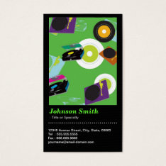 Pub DJ - Cool Disc Jockey Mixer Deck  - QR Code Business Card at Zazzle