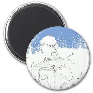 Pub Drummer.jpg 2 Inch Round Magnet