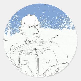 Pub Drummer.jpg Classic Round Sticker