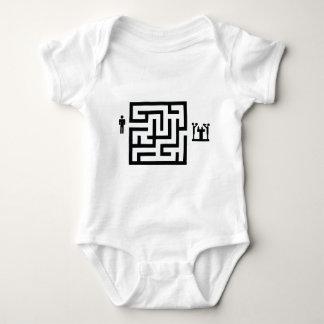 pub labyrinth icon baby bodysuit