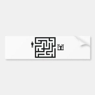 pub labyrinth icon bumper sticker