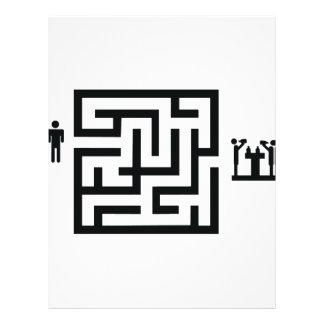 pub labyrinth icon flyer