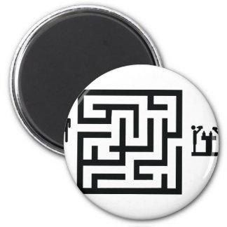 pub labyrinth icon magnet