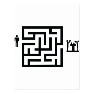 pub labyrinth icon postcard