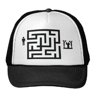 pub labyrinth icon trucker hat