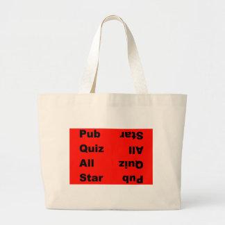 pub quiz all star tote bags