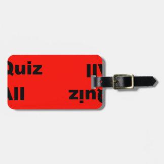 pub quiz all star tag for bags