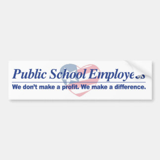 Pub. Schl Employees Make Difference Bumper Sticker
