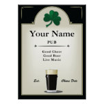 Pub Sign, Irish Pub, Personalized Poster