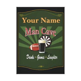 Pub Sign, Man Cave, Personalized Canvas Print
