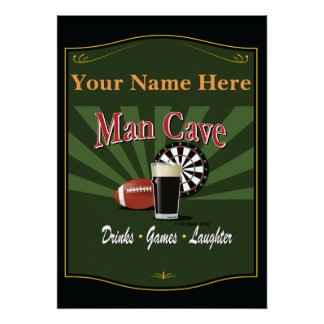 Pub Sign, Man Cave, Personalized Poster