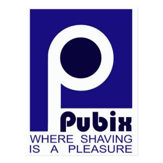 PUBIX - Donde está un placer el afeitar Postales