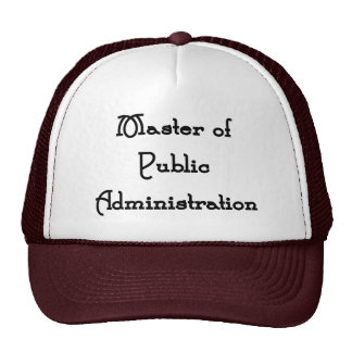 Public Administration Trucker Hats