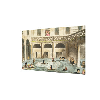 Public Bathing at Bath, or Stewing Alive, print pu