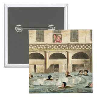 Public Bathing at Bath, or Stewing Alive, print pu Button