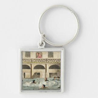 Public Bathing at Bath, or Stewing Alive, print pu Keychains