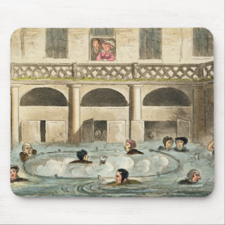 Public Bathing at Bath, or Stewing Alive, print pu Mouse Pad