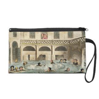 Public Bathing at Bath, or Stewing Alive, print pu Wristlet
