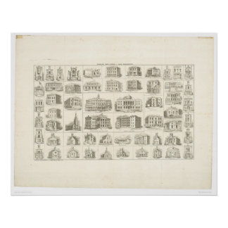 Public buildings of San Francisco (1372A) Poster