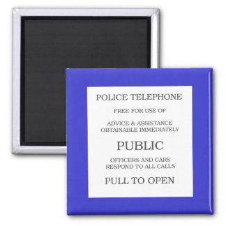 Public Call Box sign Magnet