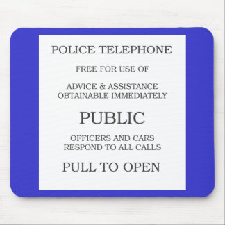 Public Call Box sign Mouse Pad