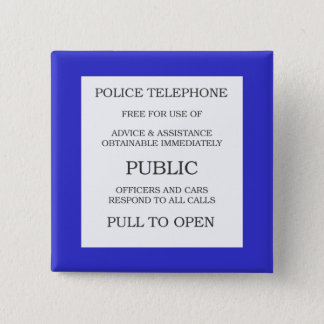 Public Call Box sign Pinback Button