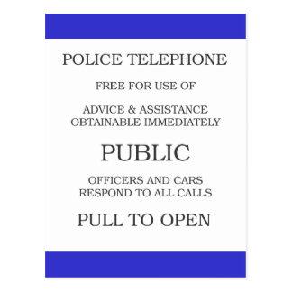 Public Call Box sign Postcard