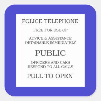 Public Call Box sign Square Stickers