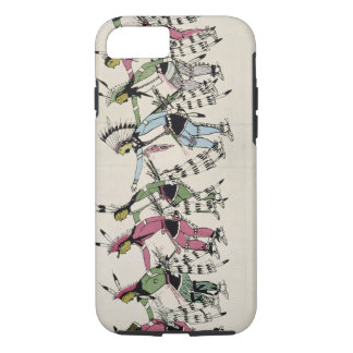 Public dance in honour of the warrior He Dog (ink iPhone 7 Case