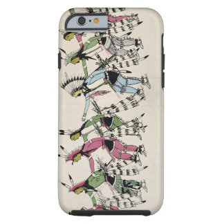 Public dance in honour of the warrior He Dog (ink iPhone 6 Case