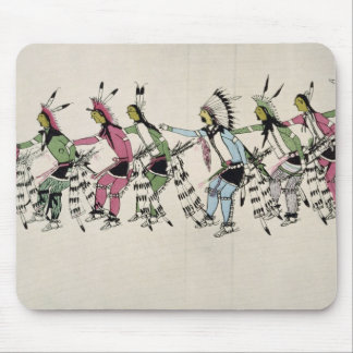 Public dance in honour of the warrior He Dog (ink Mouse Pad