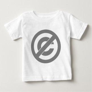 Public Domain Anti-Copyright Symbol Baby T-Shirt