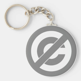 Public Domain Anti-Copyright Symbol Keychains