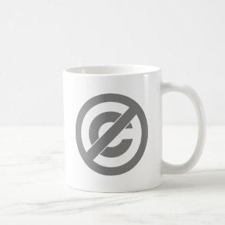 Public Domain Anti-Copyright Symbol Coffee Mug