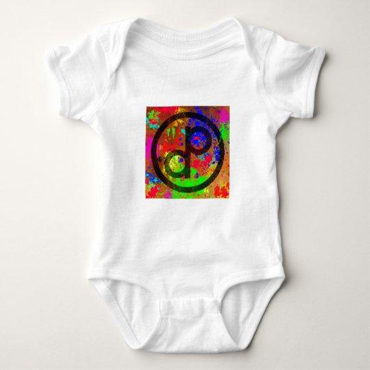 Public Domain Spatter Baby Bodysuit
