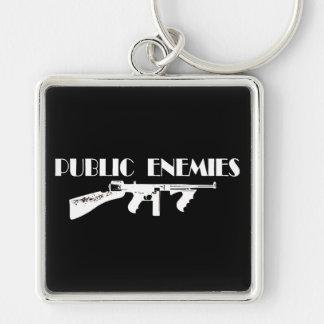 Public Enemies Machine Gun Keychain