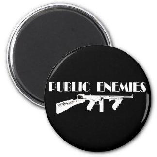 Public Enemies Machine Gun Magnet