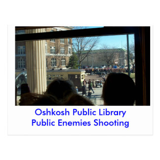 Public Enemies Shooting OPB Postcard