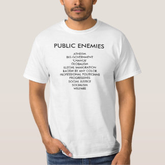 PUBLIC ENEMIIES, ATHEISMBIG GOVERNMENT'CHANGE'G... SHIRT