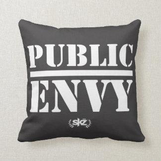 Public Envy Pillow b&w