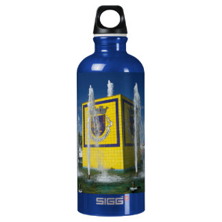 Public fountain in Azores islands Aluminum Water Bottle