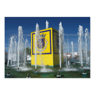 Public fountain in Azores islands Card