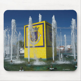 Public fountain in Azores islands Mouse Pad