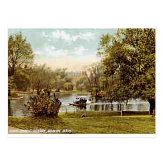 Public Garden, Boston 1909 Vintage Postcard