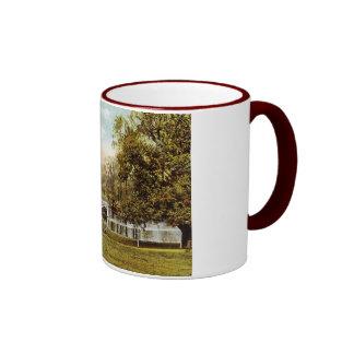 Public Garden, Boston 1909 Vintage Ringer Coffee Mug