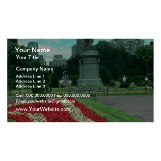 Public gardens, Boston, Massachusetts flowe Double-Sided Standard Business Cards (Pack Of 100)