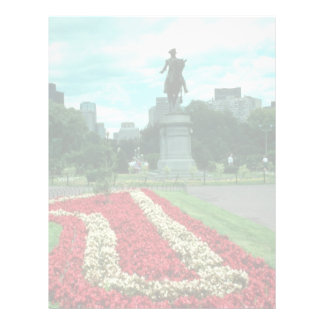 Public gardens, Boston, Massachusetts flowe Customized Letterhead