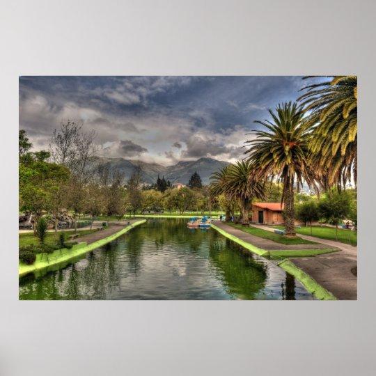 public gardens in Quito Poster