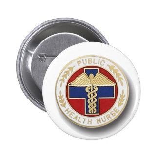 Public Health Nurse Pinback Button