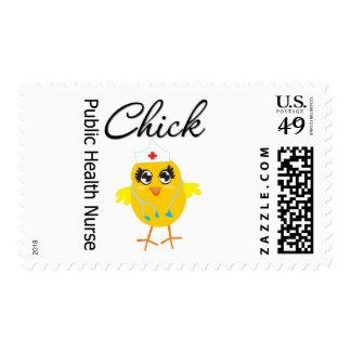 Public Health Nurse Chick v1 Stamp